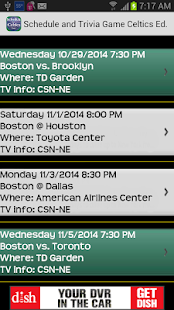 Schedule Boston Celtics fans - screenshot thumbnail
