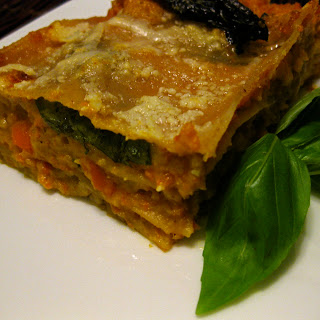 Roasted Carrot and Butternut Squash Lasagna.