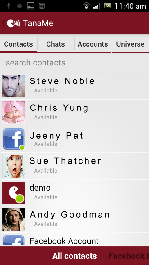 TanaMe FREE - call,im,sms,mail - screenshot