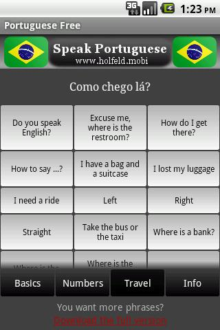 Speak Portuguese Free- screenshot