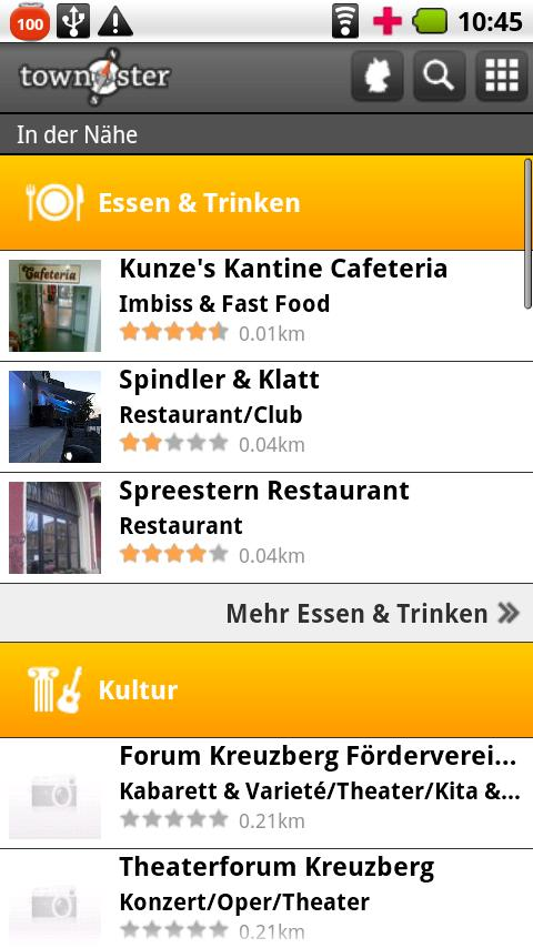 Berlin Townster - Freizeit App - screenshot