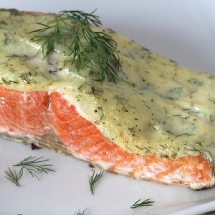 5 Ingredient 10 Minute Creamy Dill Salmon Recipe