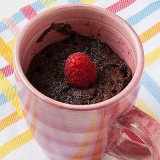 Chocolate Nutella Cake in a Mug