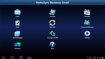 Screenshot of Exchange ActiveSync for Tablet