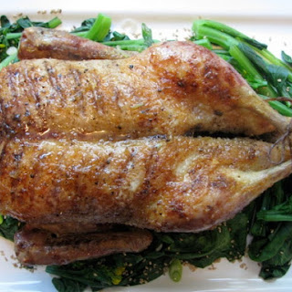 Roast Duck with Honey Ginger Glaze