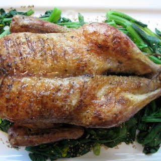 Roast Duck with Honey Ginger Glaze.