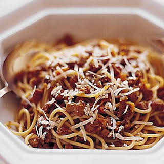 Spaghetti with Veal Bolognese Sauce.