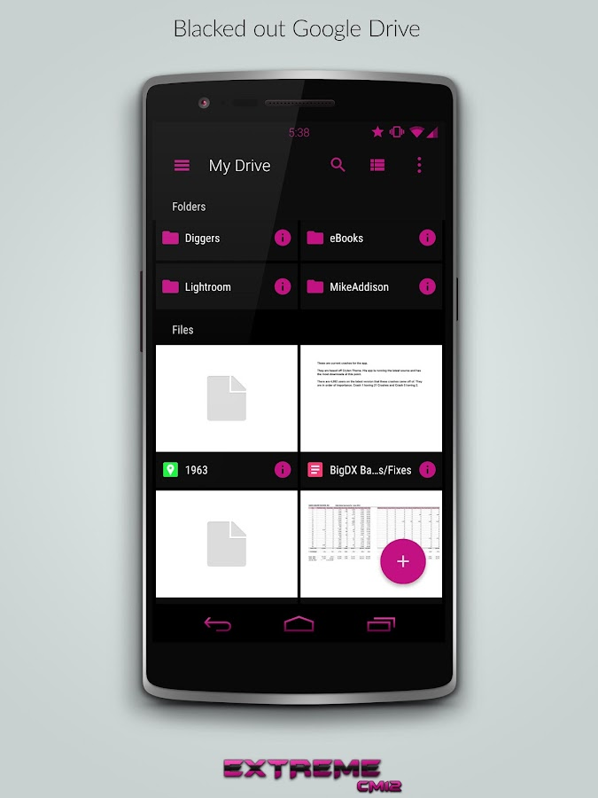 JB Extreme Pink CM11 CM12 - screenshot