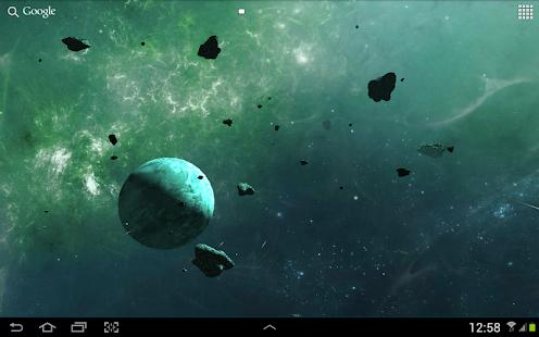 Астероиды 3D живые обои