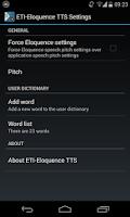 Screenshot of Eloquence Text To Speech