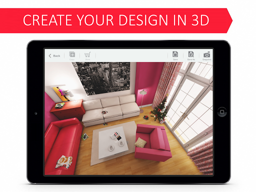 Living Room 3D for Ikea - Gold