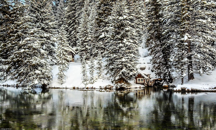 Historic Johnny Sack's Little Cabins On Big Springs Montana by Jim Moon - Instagram & Mobile Android ( winter, whisper river photography, cabins, west yellow stone, water wheel, jim moon, hot springs, big springs montana, johnny sack,  )