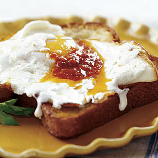 Olive Oil Fried Eggs with Mozzarella and Harissa