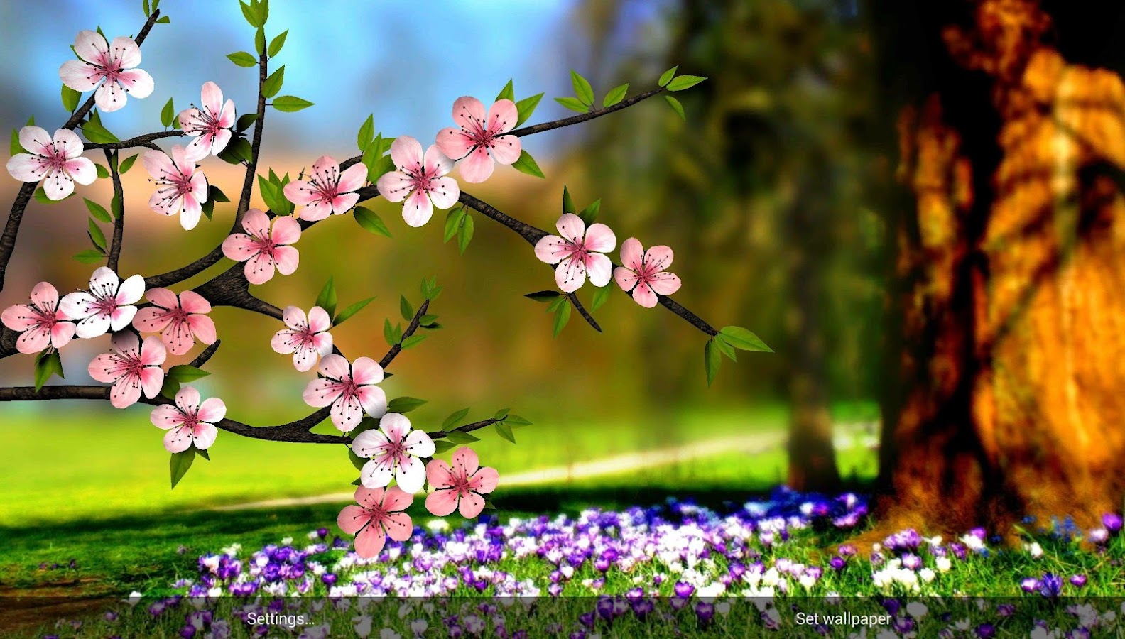 spring flowers 3d parallax hd u2013 android apps on google play