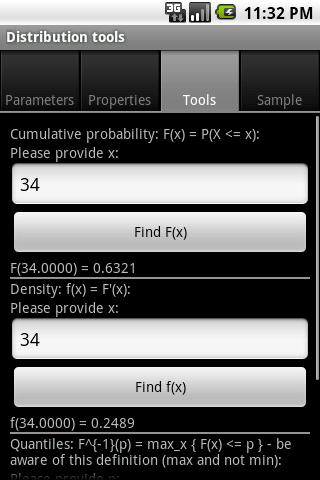 STA: Statistical Toolbox - screenshot