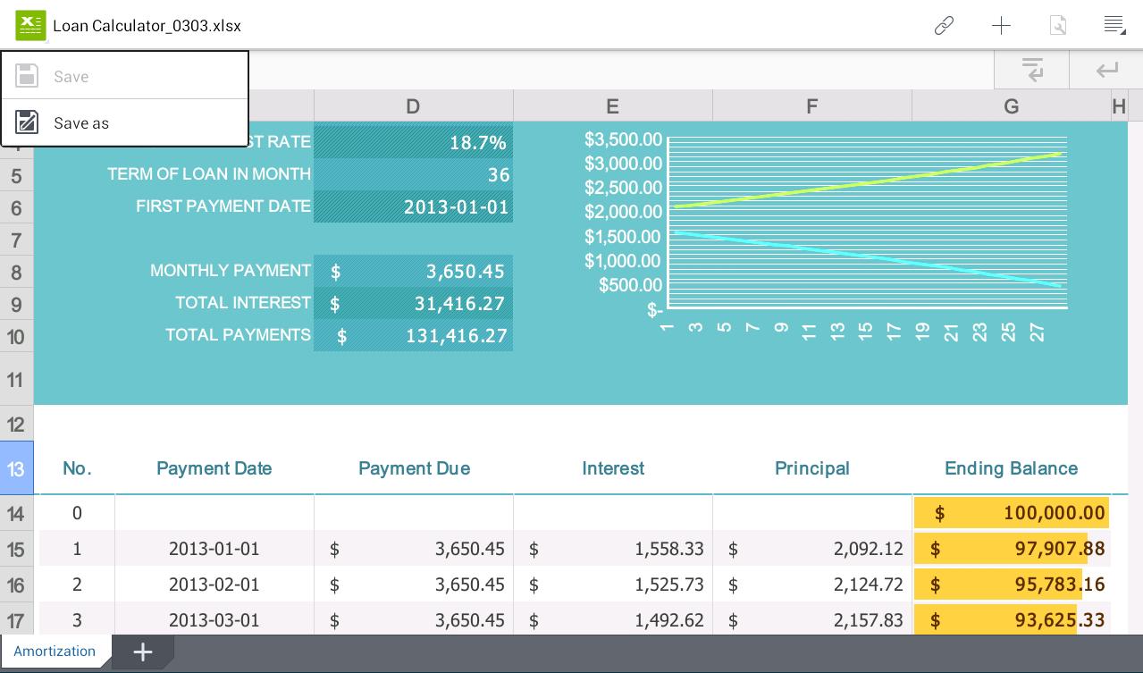 Polaris Office - screenshot