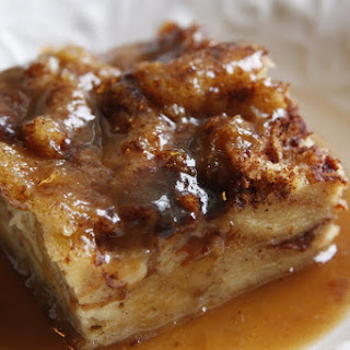 Classic Bread Pudding with Bourbon Sauce.