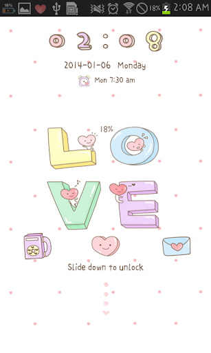 LOVE go locker theme