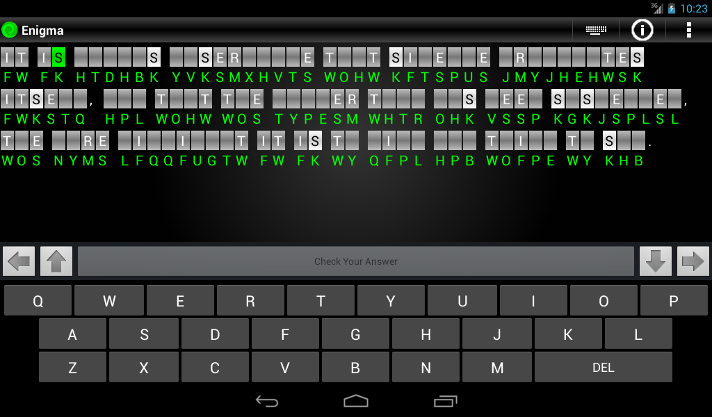 Enigma Trial - Cryptograms - screenshot