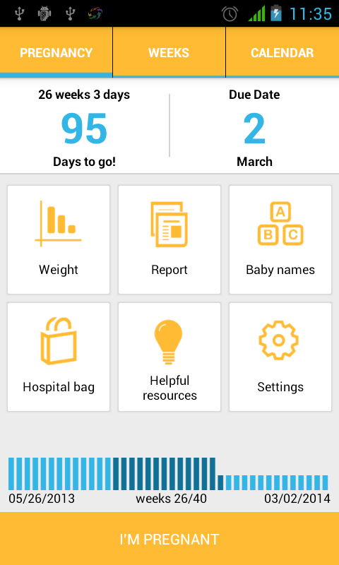 I'm Pregnant / Pregnancy App - screenshot