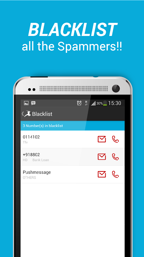 Caller ID, Block Calls & texts- screenshot