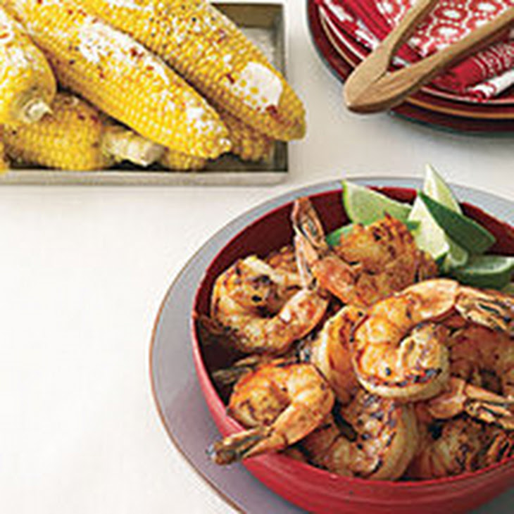 Grilled Shrimp and Cuban Corn Recipe