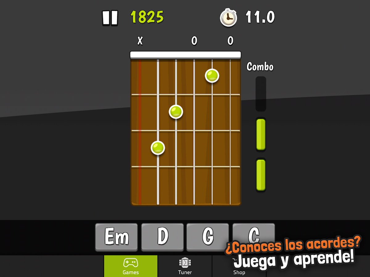 Afinador guitarra - GuitarTuna - screenshot