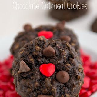 Heart Healthier Chocolate Oatmeal Cookies.
