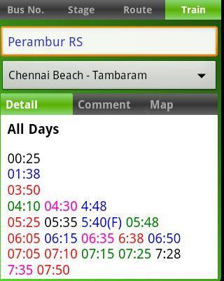 MTC bus route - screenshot