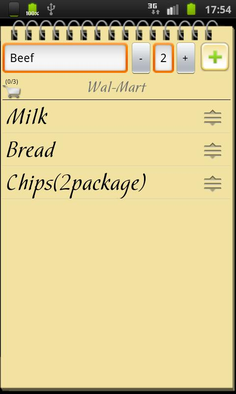 Shopping List+ - screenshot