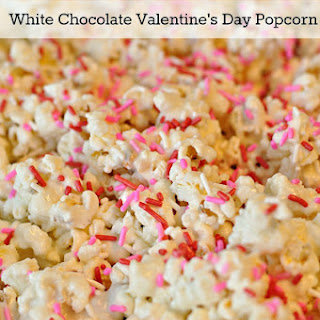 White Chocolate Valentine's Day Popcorn