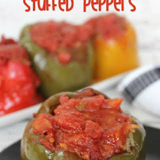 Easy Crock Pot Stuffed Peppers.
