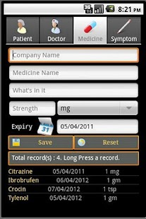 Health Record Book Lite - screenshot thumbnail