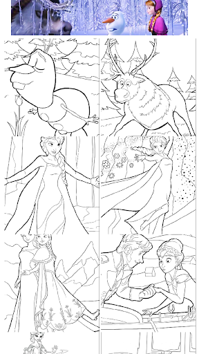 Two Princess Of Snow Coloring
