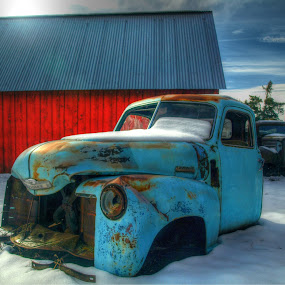 Idaho Winter by Gary Winterholler - Transportation Automobiles ( , snow, winter, cold, colorful, mood factory, vibrant, happiness, January, moods, emotions, inspiration )