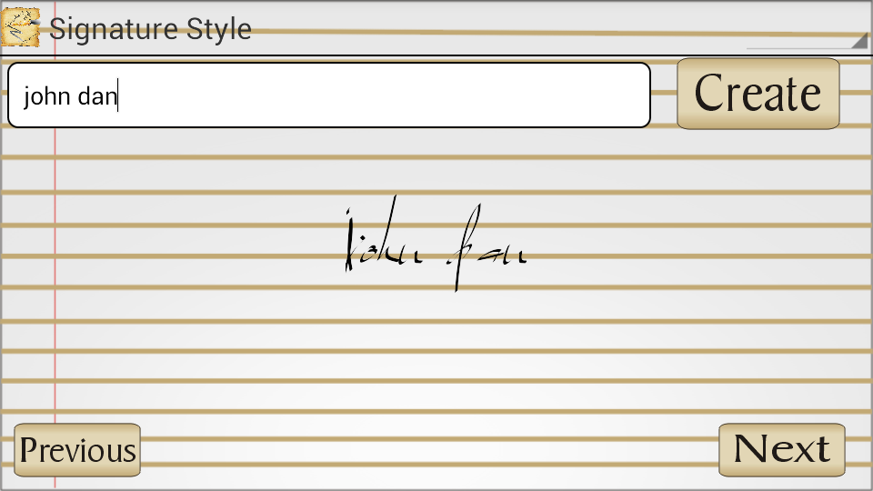 Signature Style - screenshot