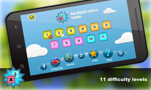 Math - Multiplication table - screenshot thumbnail