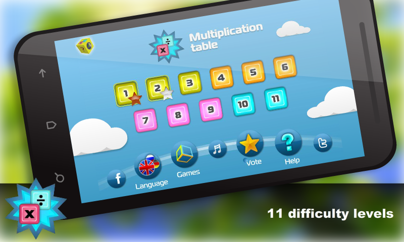 Math.Multiplication table Free- screenshot