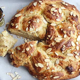 Honey Almond Challah Bread.