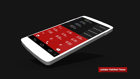 ExDialer Theme FlatORed