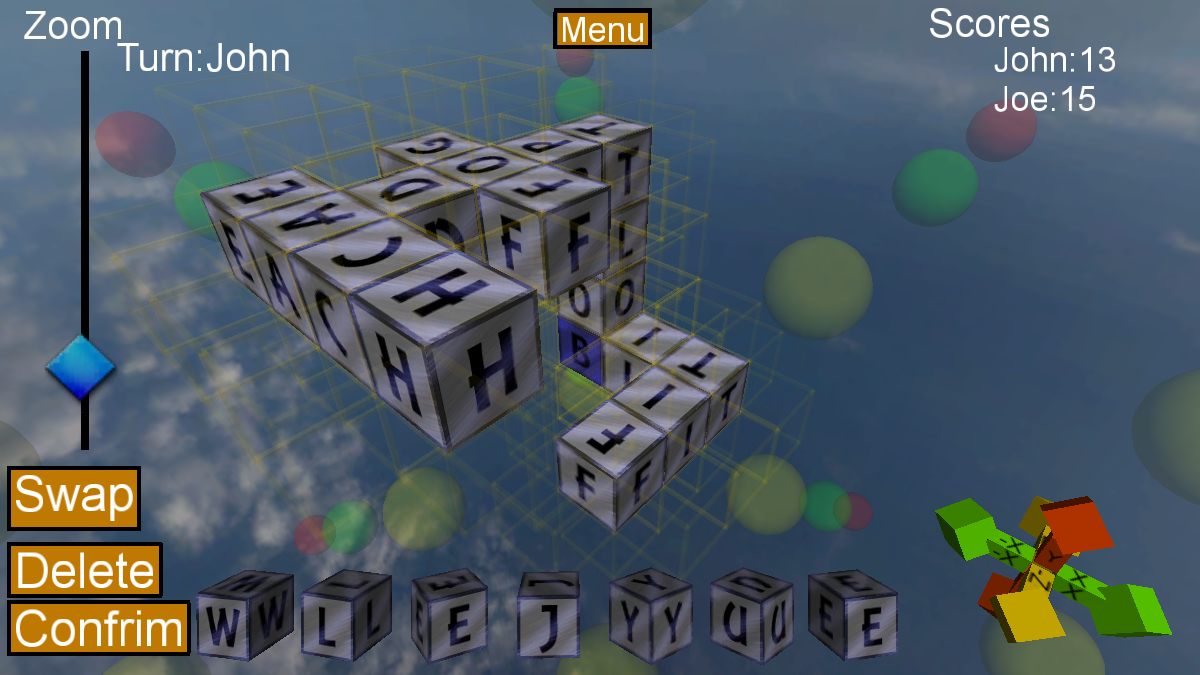 Words Cubed- screenshot