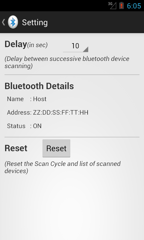 Bluetooth Scanner - screenshot