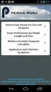 Perma Pure Dryer Sizing App- screenshot thumbnail