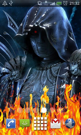 Dark Demon Fire Flames LWP