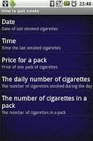 Screenshot of Time To Quit Smoke