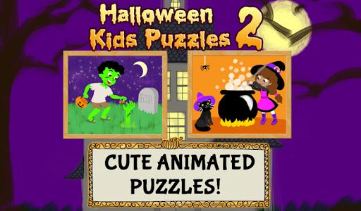 万圣节儿童拼图2-适宜幼童,男孩和女孩的鬼,僵尸与巫婆游戏 玩教育App免費 玩APPs