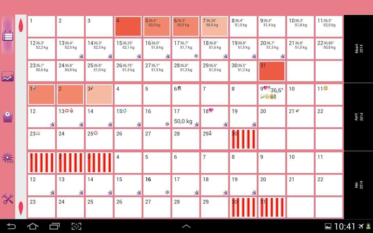 womanlog kalender android apps op google play. Black Bedroom Furniture Sets. Home Design Ideas