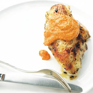 Roast Chicken Breasts with Romesco Sauce.