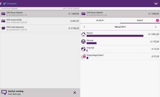 SNS Mobiel Bankieren - screenshot thumbnail