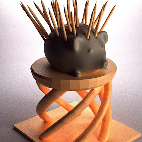 Toothpick Hedgehog